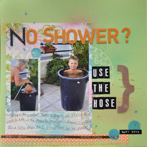 No shower-CD