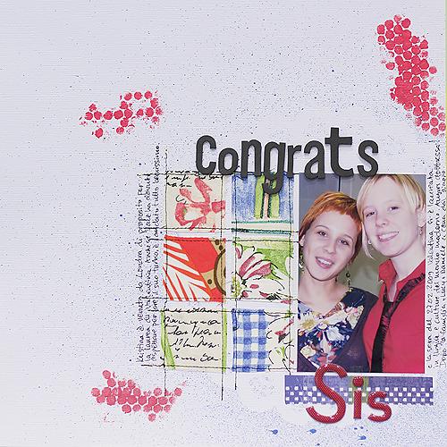 Congrats sis(CD9)