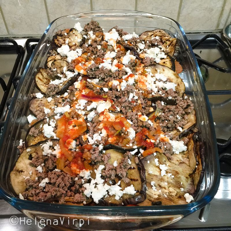 Eggplant casserole with feta